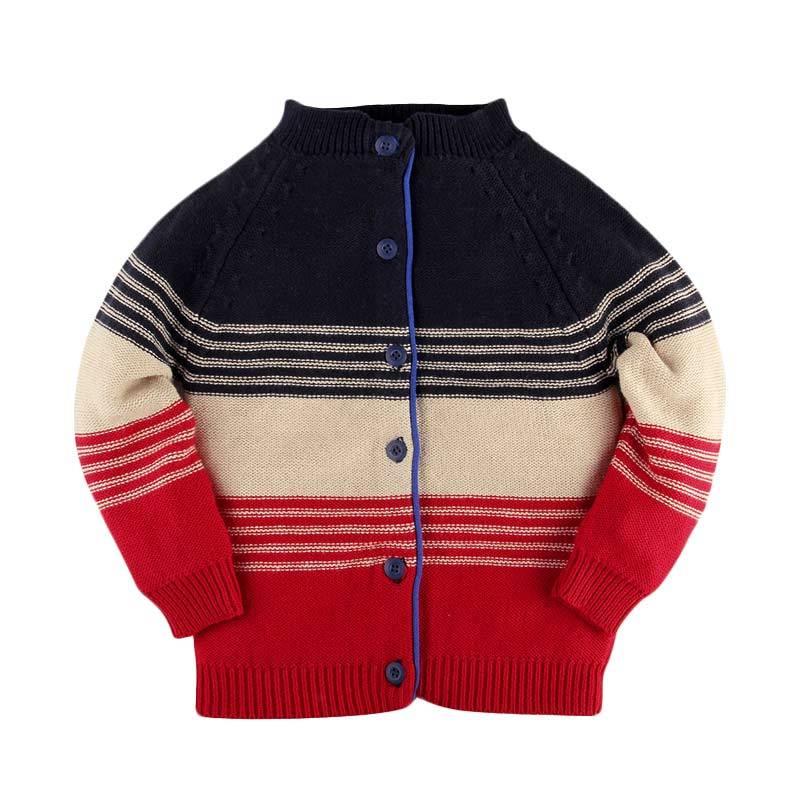Hello Mici Baju Bayi Knitwear Baby 3 Tone Cardigan
