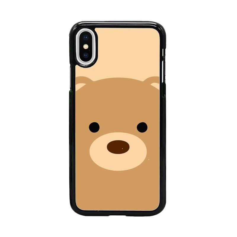 Acc Hp Bear Animal Face W5034 Custom Casing for Iphone X