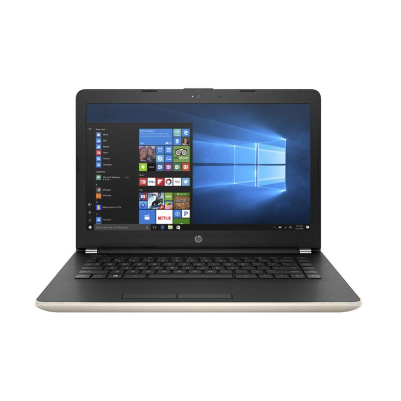 harga HP 14-BW024AX Notebook - Gold [AMD A9-9420/4 GB/1 TB/14 Inch /Win10] Blibli.com