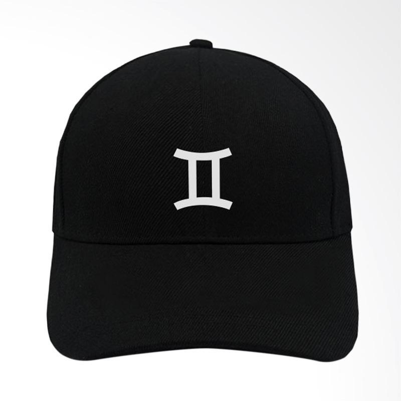 Jual IndoClothing Zodiak Gemini Topi Baseball - Hitam Online - Harga    Kualitas Terjamin  7980c4a59b