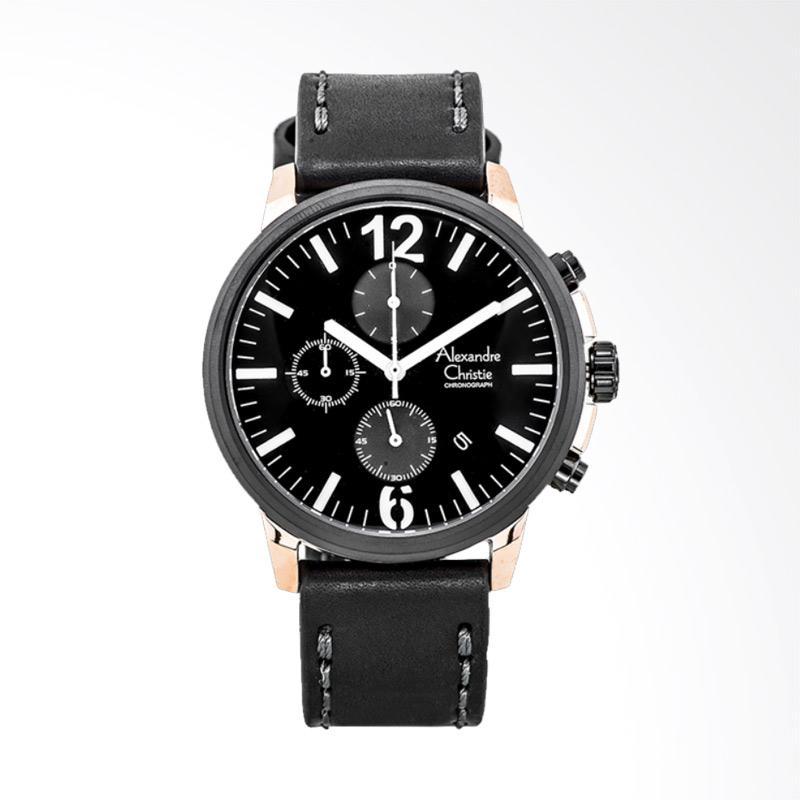 harga Alexandre Christie Leather Strap Jam Tangan Pria - Black [AC 6267 MC LBRBASL] Blibli.com
