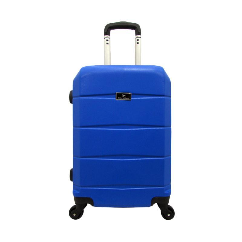 Polo Milano 28119 Hardcase ABS Set Koper - Blue [20 dan 24 Inch]