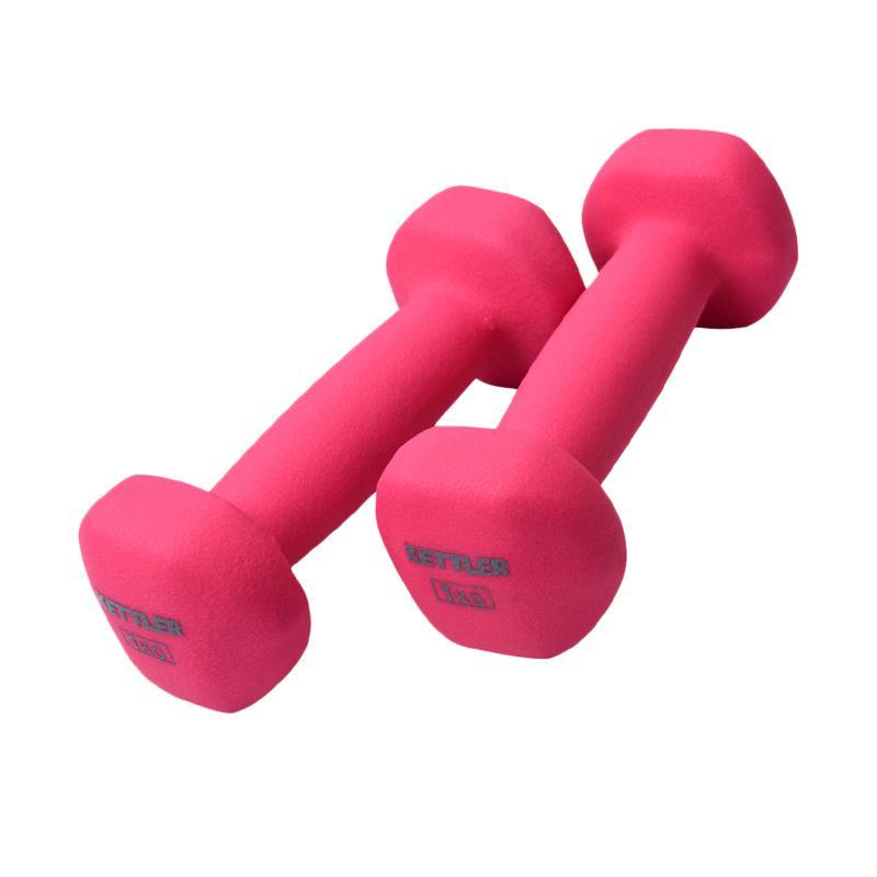harga Kettler Neoprene Dumbell Peralatan Fitnes - Pink [701-000/ 2kg/ Pair] Blibli.com