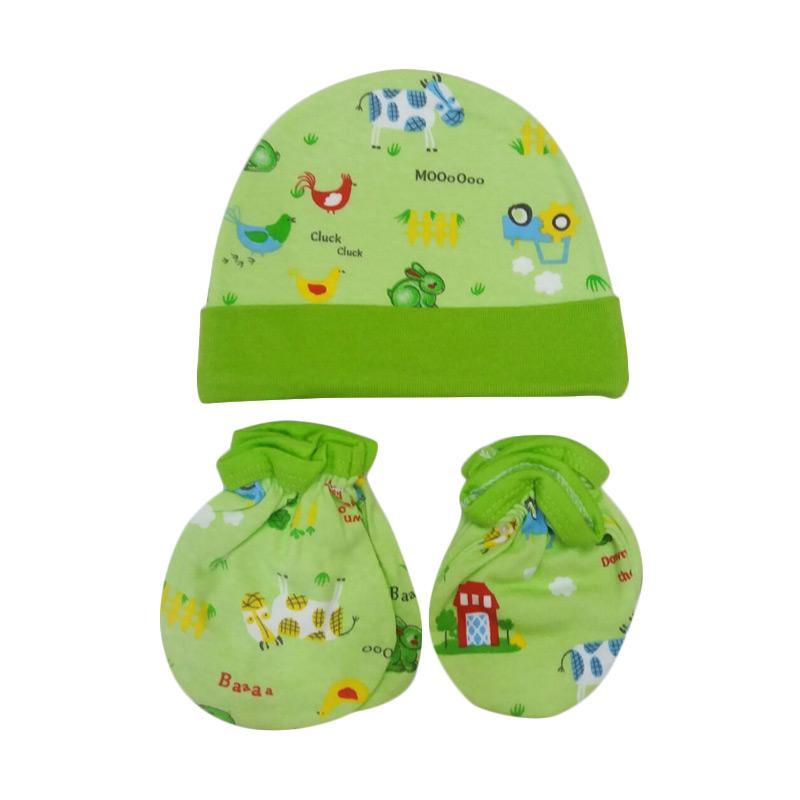 Mamimu Animal A Set Topi Sarung Tangan & Kaos Kaki Bayi - Hijau