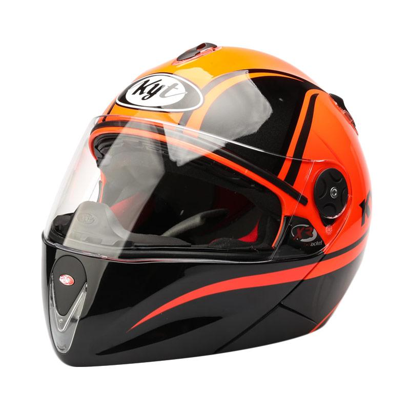 harga KYT X-Rocket Retro #2 GM Helm Full Face - Red Fluo Black Blibli.com
