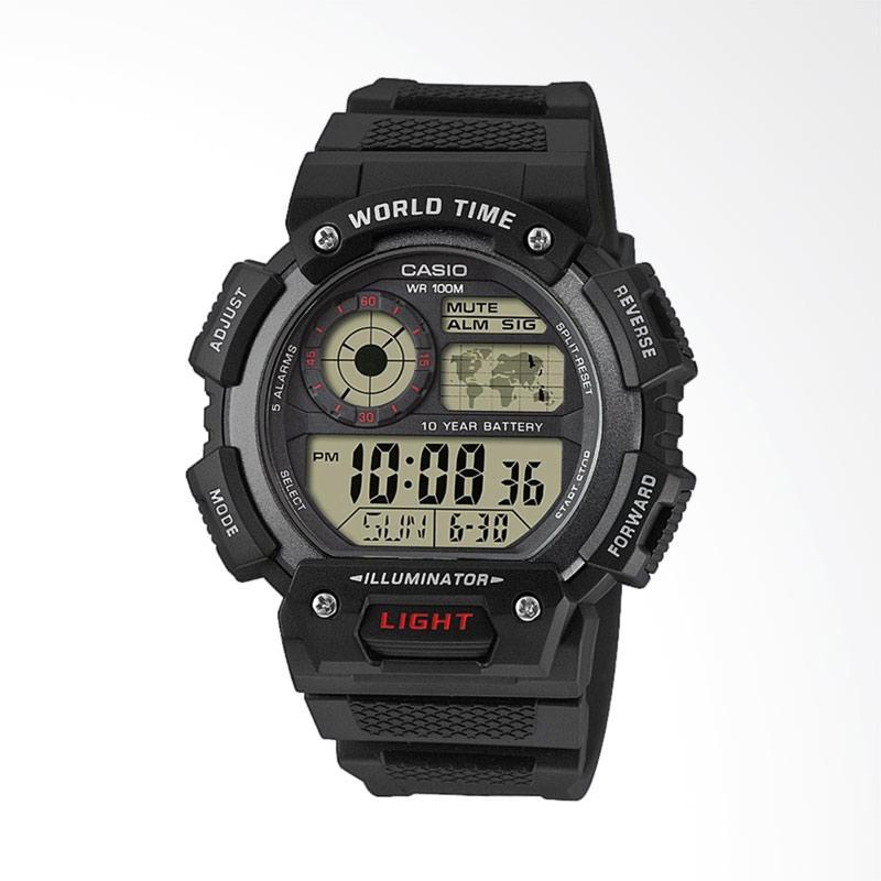 Jual CASIO Digital Strap Resin Jam Tangan Pria - Black  AE-1400WH-1A   Online - Harga   Kualitas Terjamin  ed7a59cd8d