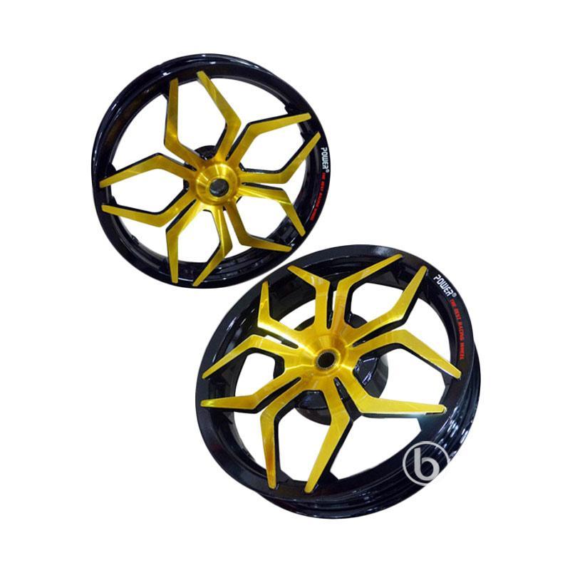 harga Power Star Tapak Lebar Set Velg Racing Motor for Mio Sporty 110 - Gold [14-215 - 250] Blibli.com