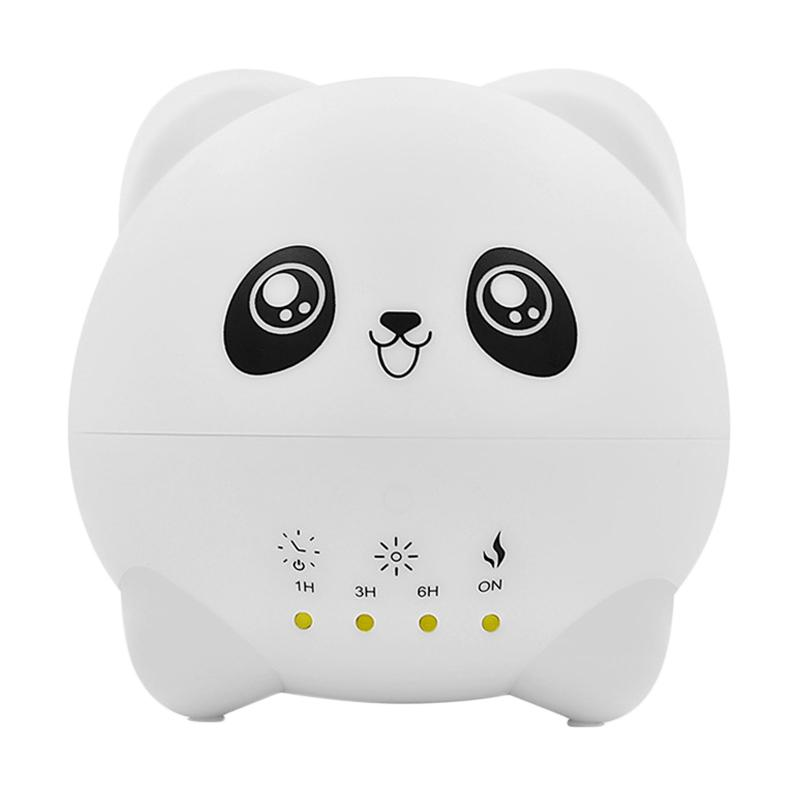 SINYO S Cute Panda Aroma Diffuser Colorful LED Ultrasonic Humidifier 300 mL