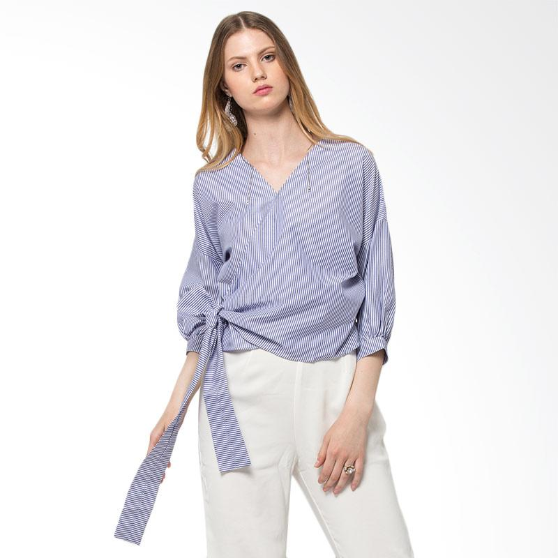 The Executive 5 Blwcas118E166 Long Sleeve Blouse Blue