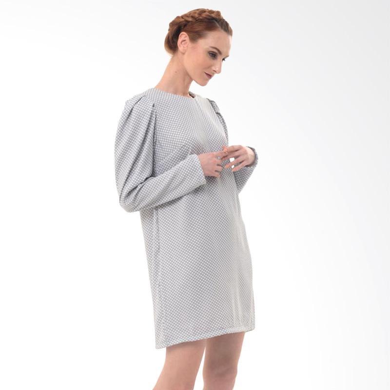 Beyounique Puffy Sleeve Polka Mini Dress