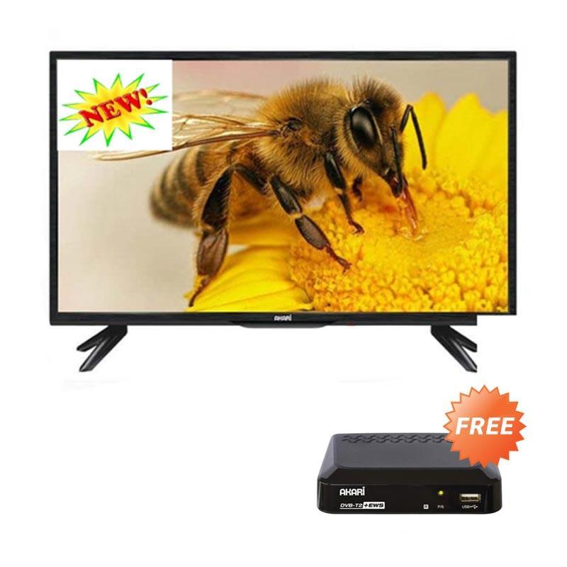 Akari LE 43P88 TV LED - Hitam + Free Akari ADS 210 Set Top Box