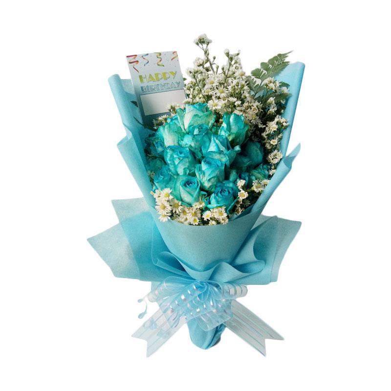 Jual Freshcut Flowers Hand Bouquet Bunga Mawar Biru Online November 2020 Blibli Com
