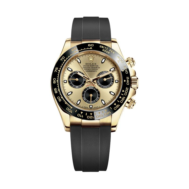 Rolex Cosmograph Daytona Champagne Colour Oystersteel Jam Tangan Pria Gold 116518ln