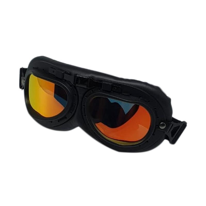Snail Helmet Goggle Classic Visor Iridium Red Kacamata Motor