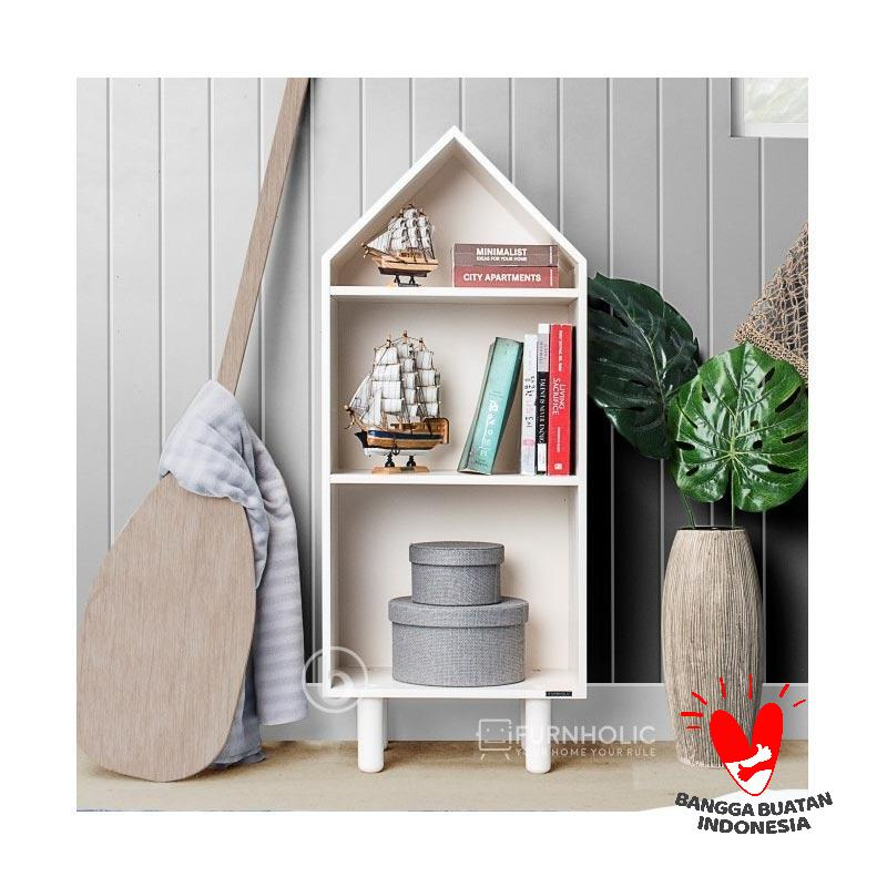 Ifurnholic Small House Bookcase Furniture Rak Buku dan Aksesoris
