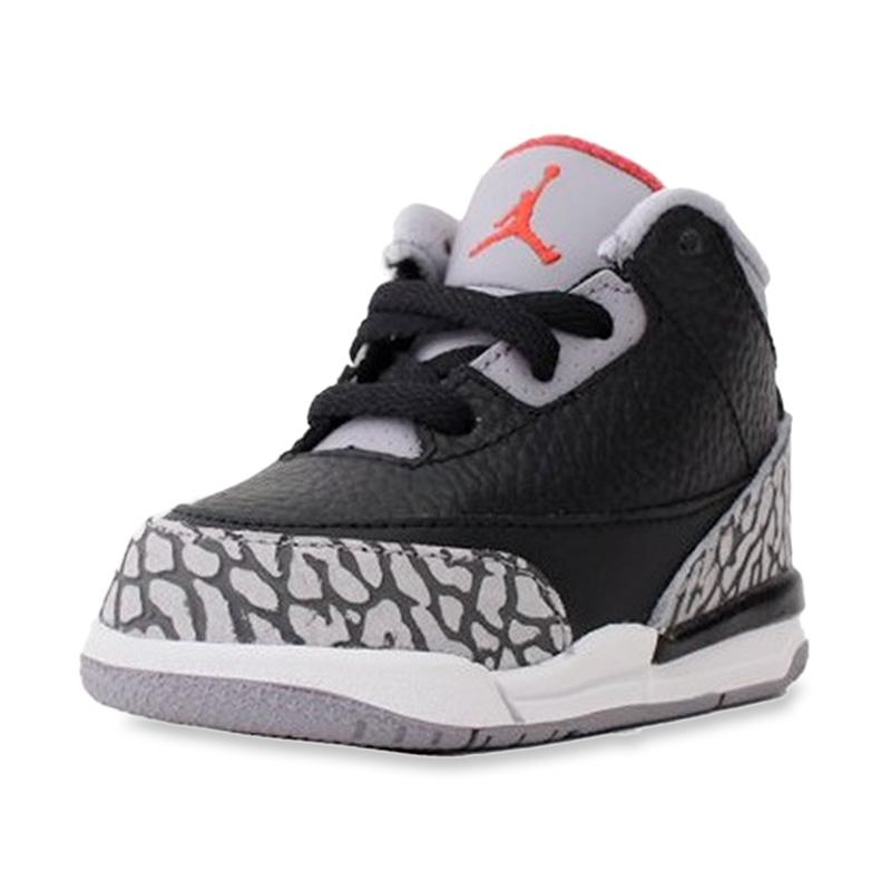 timeless design 16b8d 82968 Jual NIKE Air Jordan 3 Retro Black Cement Toddler Kids ...