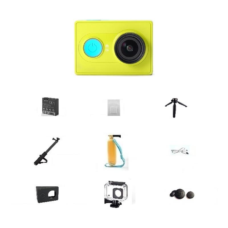 Paket Lengkap 17 in 1 Xiaomi Yi Mi Putih Action Camera