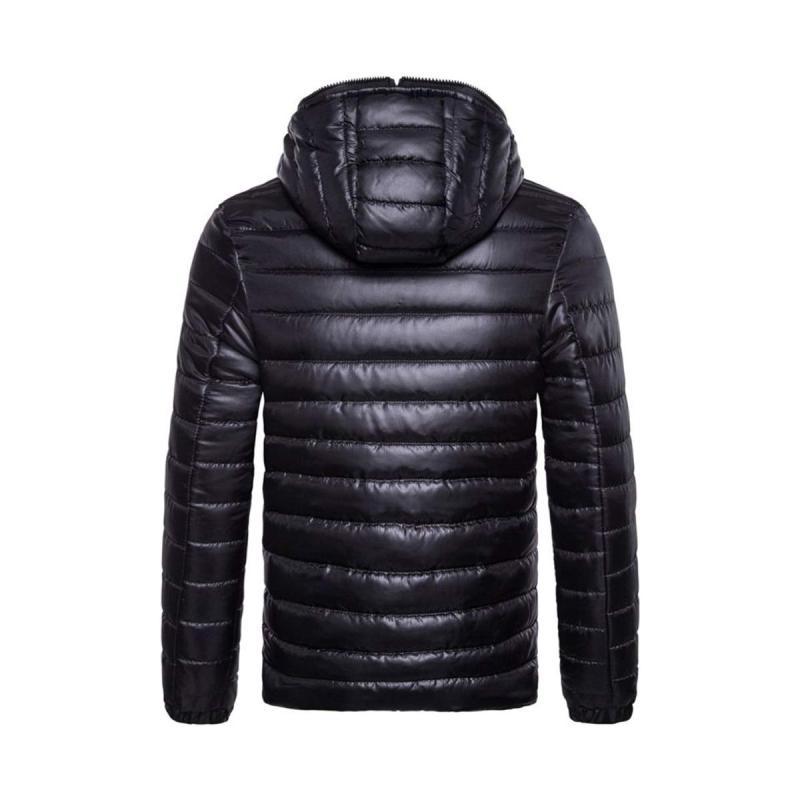 Bluelans Men Fashion Winter Autumn Hooded Solid Color Jacket Warm Zipper  Outwear Coat XXL Gray