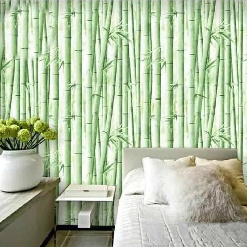 Jual Oem Motif Bambu Wallpaper Dinding Hijau Muda 10 M X 45 Cm Online November 2020 Blibli Com
