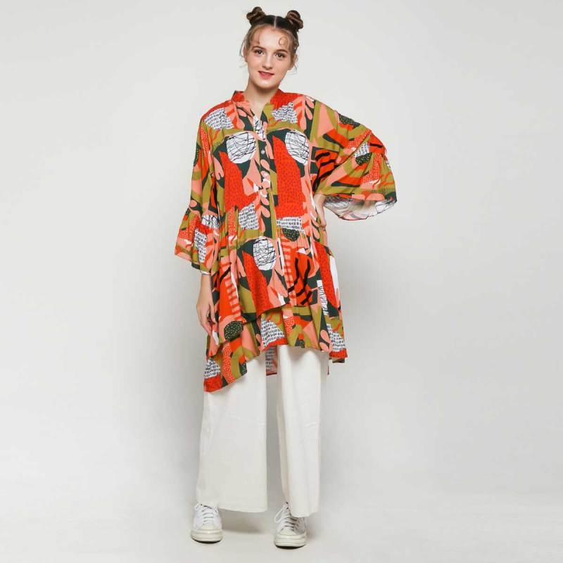 Calla The Label Behati Dress Wanita Colorful