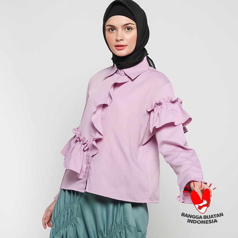 Namirah The Label Kaindra Top Blouse Muslim Wanita Lavender