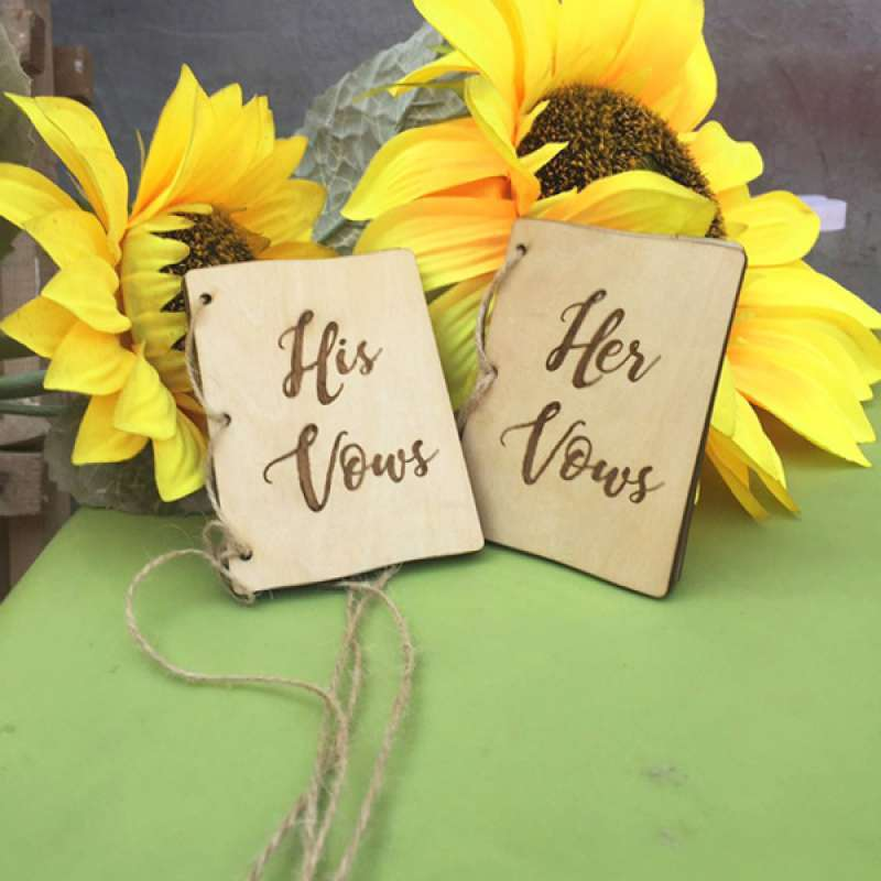 Jual Wedding Vow Booklets His Vows Her Vows Book Wedding Ceremony Party Decor Online April 2021 Blibli