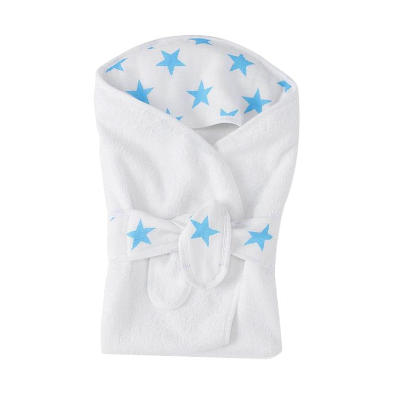 Aden Anais Fluro Blue Baby Bath Wrap