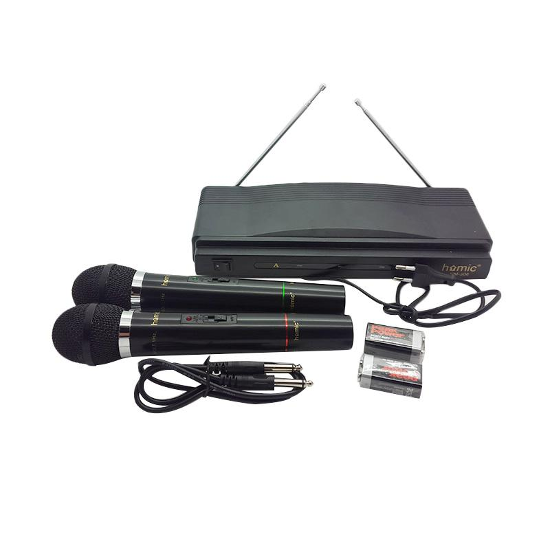 Homic HM 306 Wireless Microphone Hitam