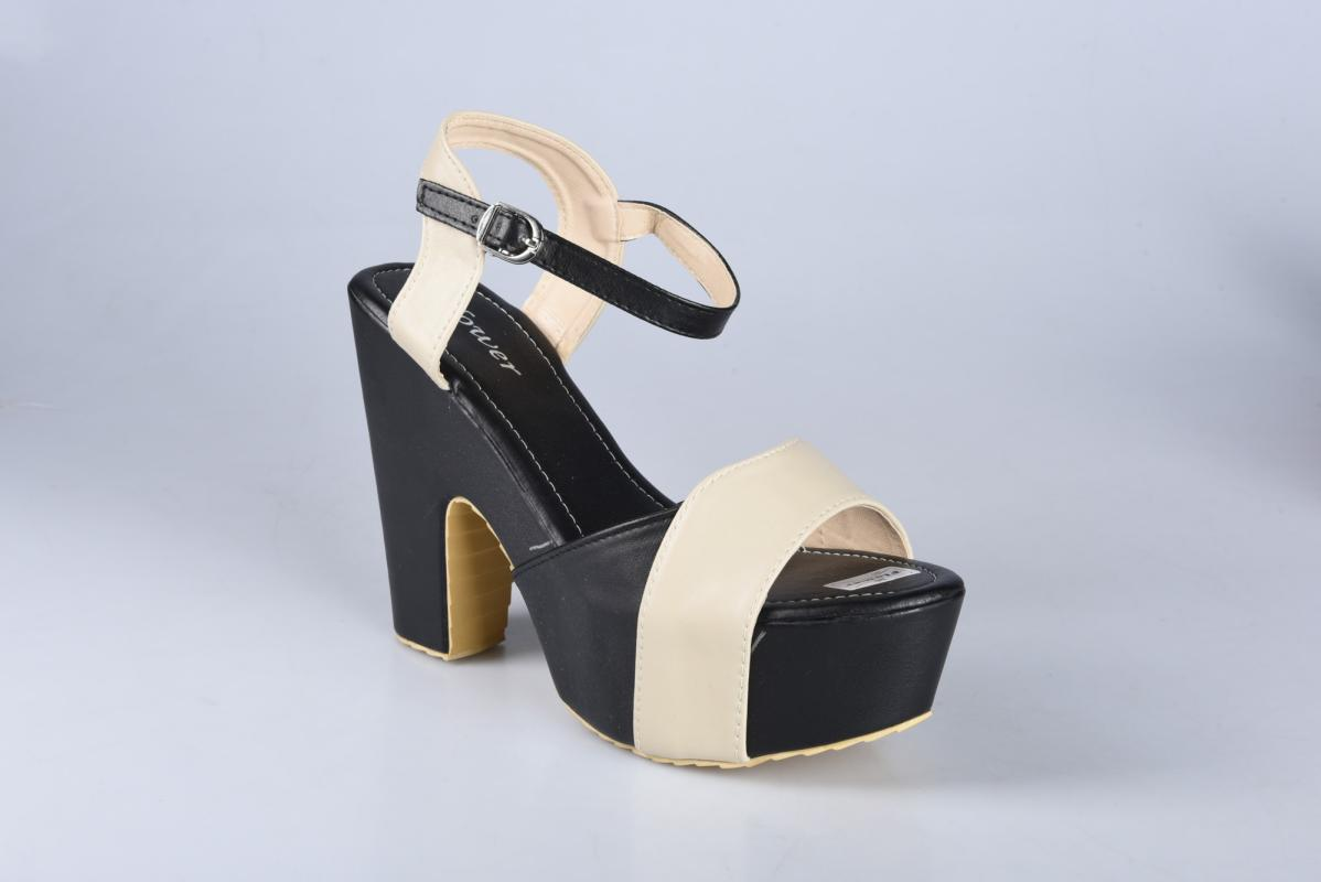 Flower SN-064B Sepatu High Heels Wanita - Hitam