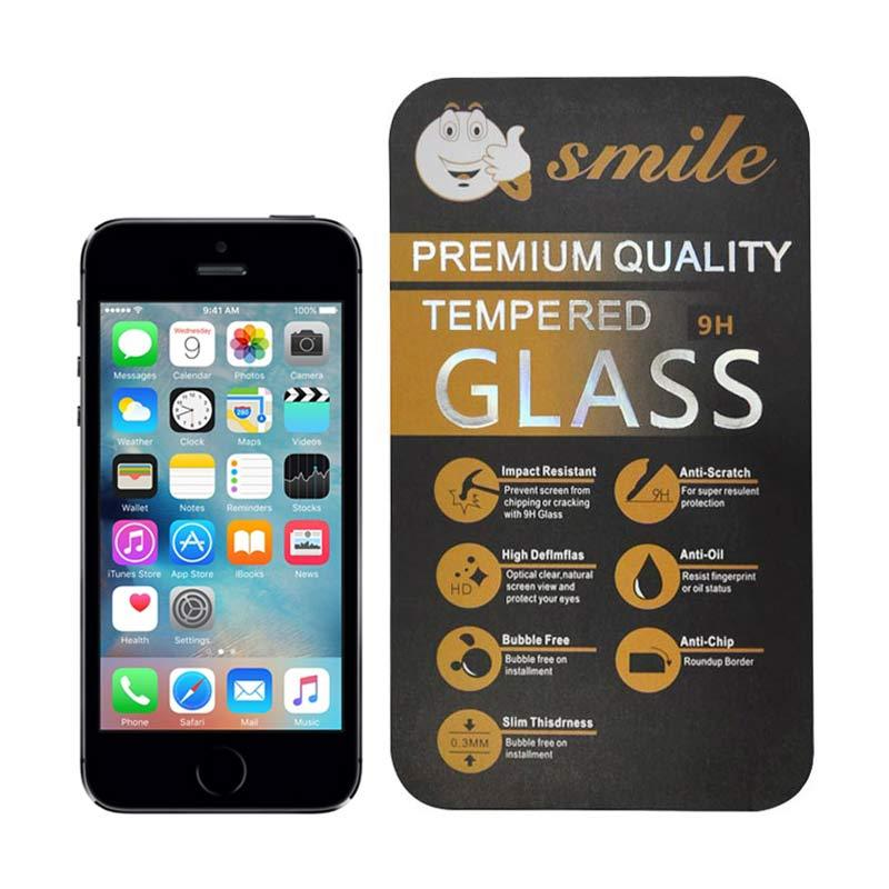 Smile Tempered Glass Screen Protector for Apple iPhone 5 or iPhone 5s
