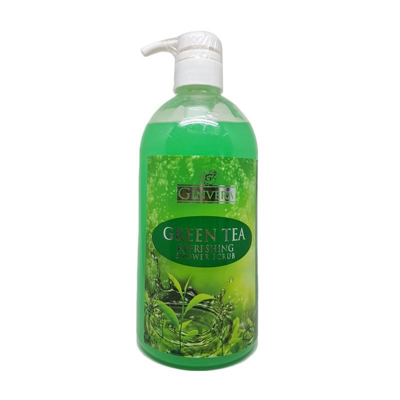 Ginvera Shower Scrub Greentea Sabun Mandi [1000 mL]