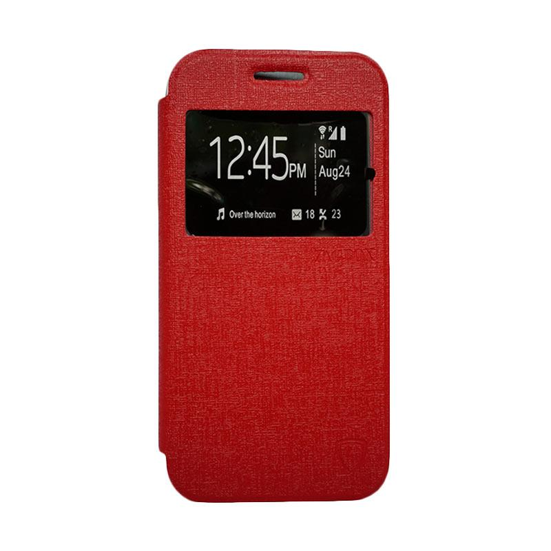 Zagbox Flip Cover Casing for Lenovo P1M - Merah