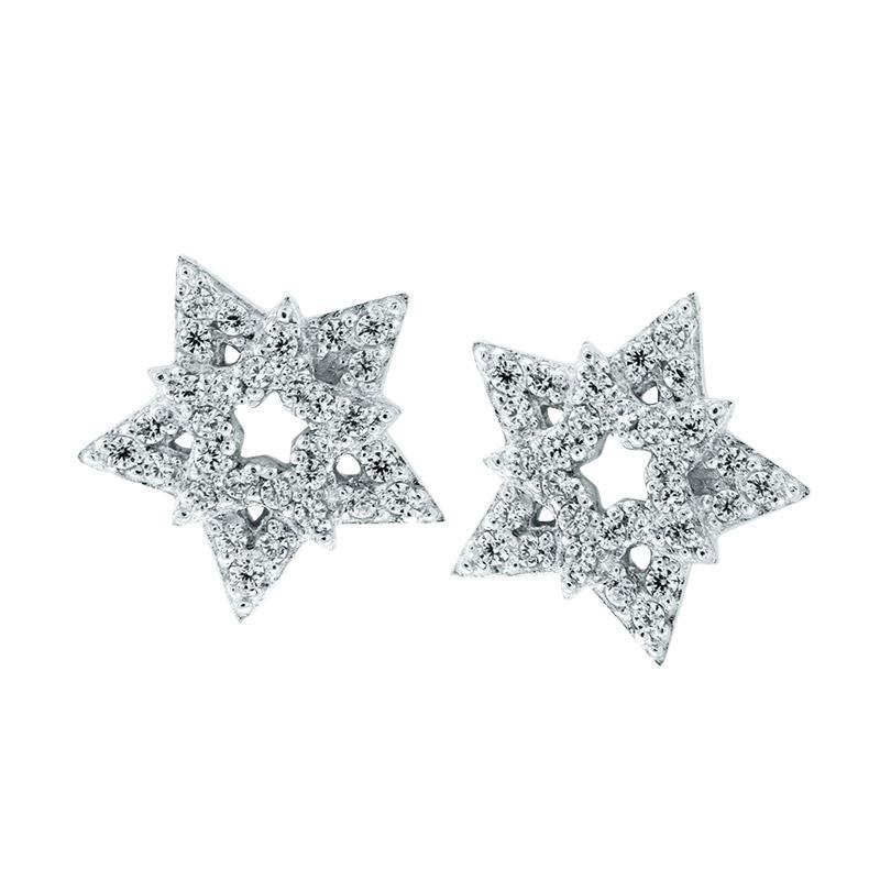 Anna Silver Star SWE-0007 Earring
