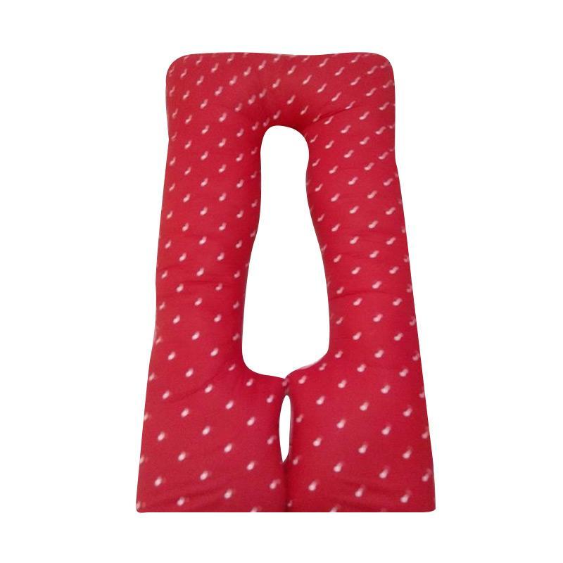 OEM Maternity Pillow Polkadot - merah