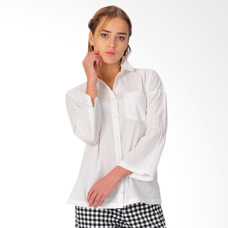 Sjo & Simpaply Siena Women's Shirt Atasan Wanita - White
