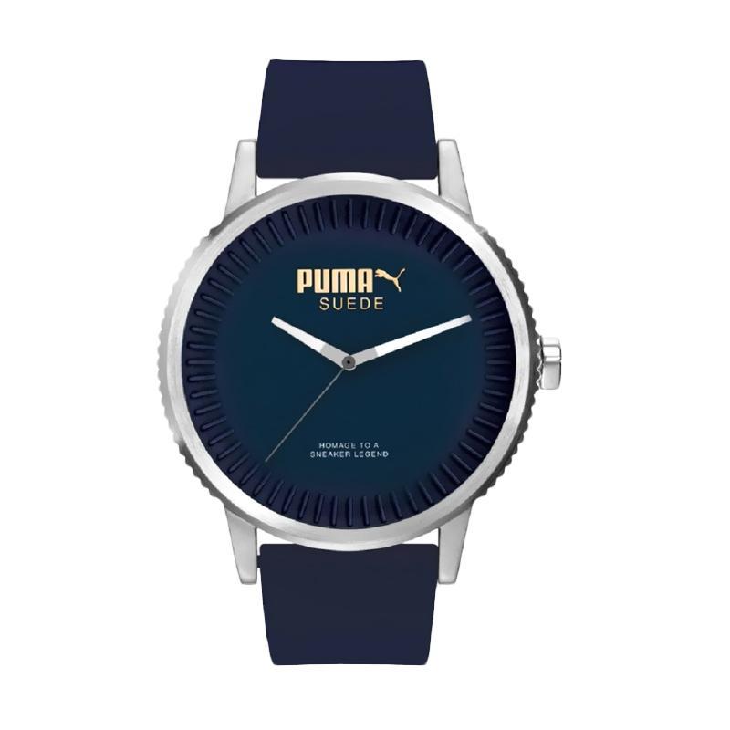 PUMA JPU104101003 Jam Tangan Pria - Navy Silver