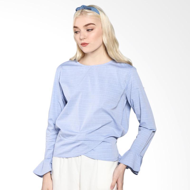 Rodeo 817.0217.BLU Blouse Shirt Motif - Blue