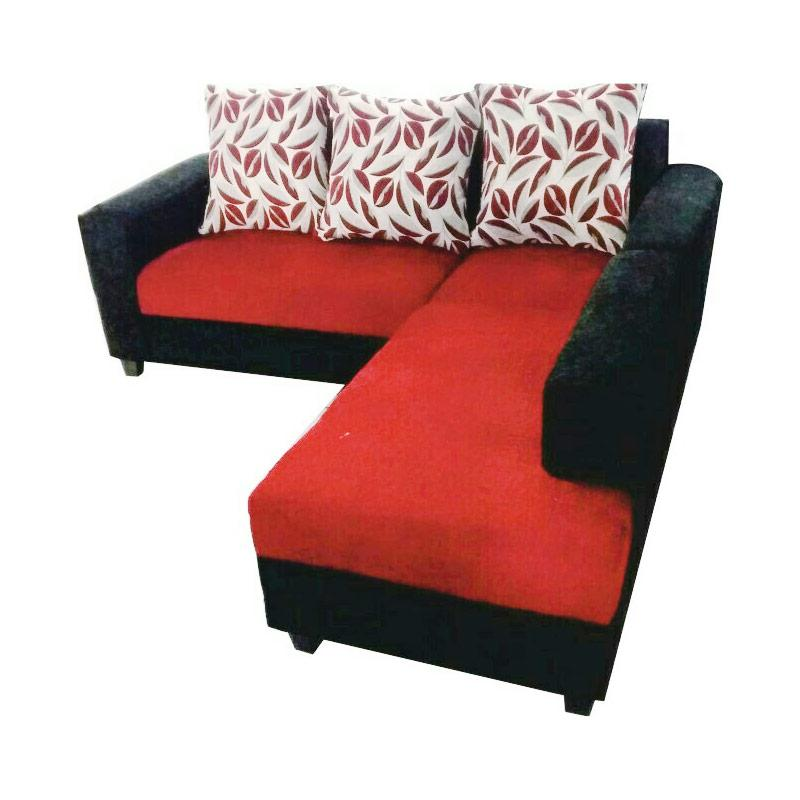 Wellingtons Sofa Set Minimalis 321 Merah Bantal Kotak Kotak Daftar Source · Simplicity L Minimalis Sofa