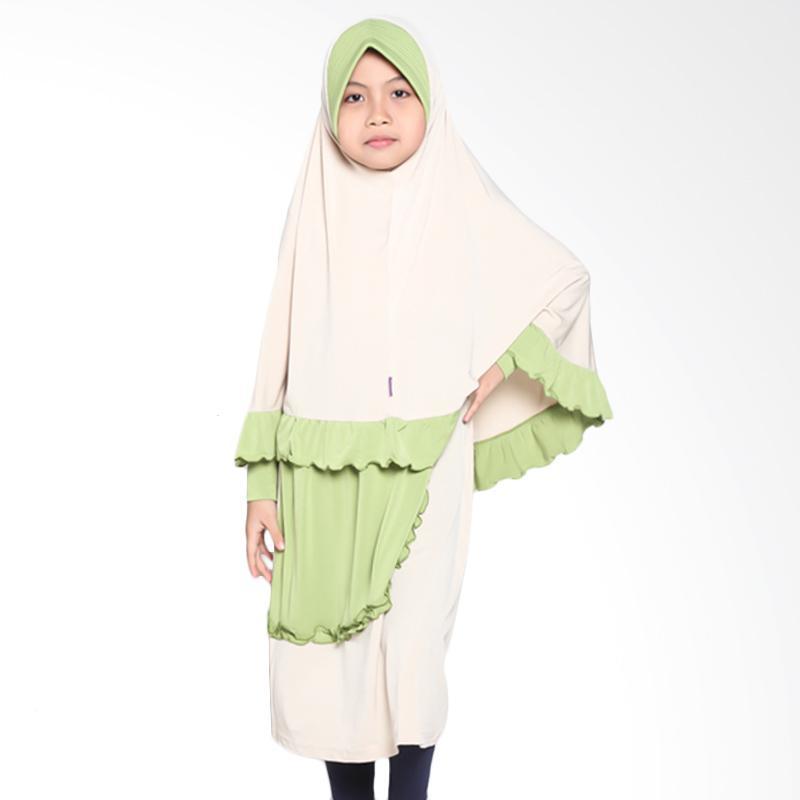 Allev Akifa Cream Baju Muslim Anak - Hijau