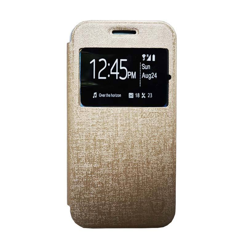 ZAGBOX Flip Cover Casing for Smartfren Andromax Qi - Gold