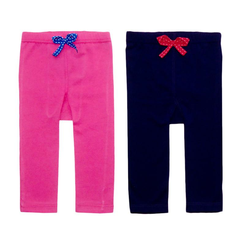 Bearhug Pita Legging Pants - Pink Ungu [2 Pcs]