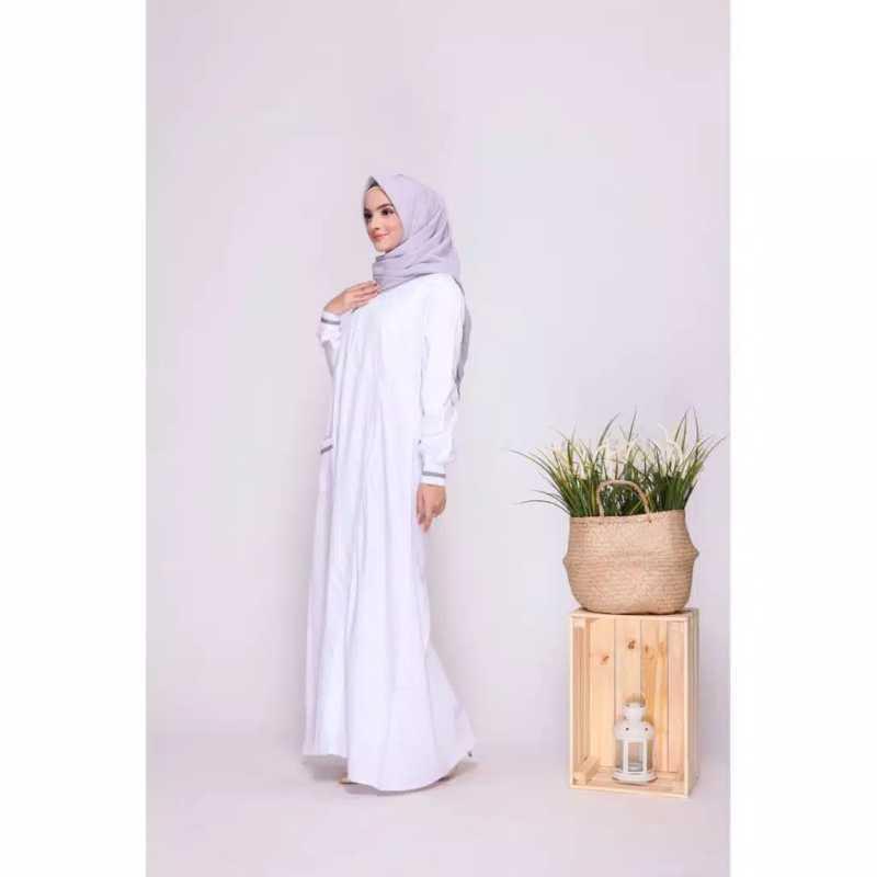 Jual Gamis Putih Nibras Gamis Putih Wanita Elegan Gamis Putih Polos Baju Muslim Fashion Muslim Gamis Busui Jumbo Gamis Simple Gamis Wanita Brukat F42 Online April 2021 Blibli