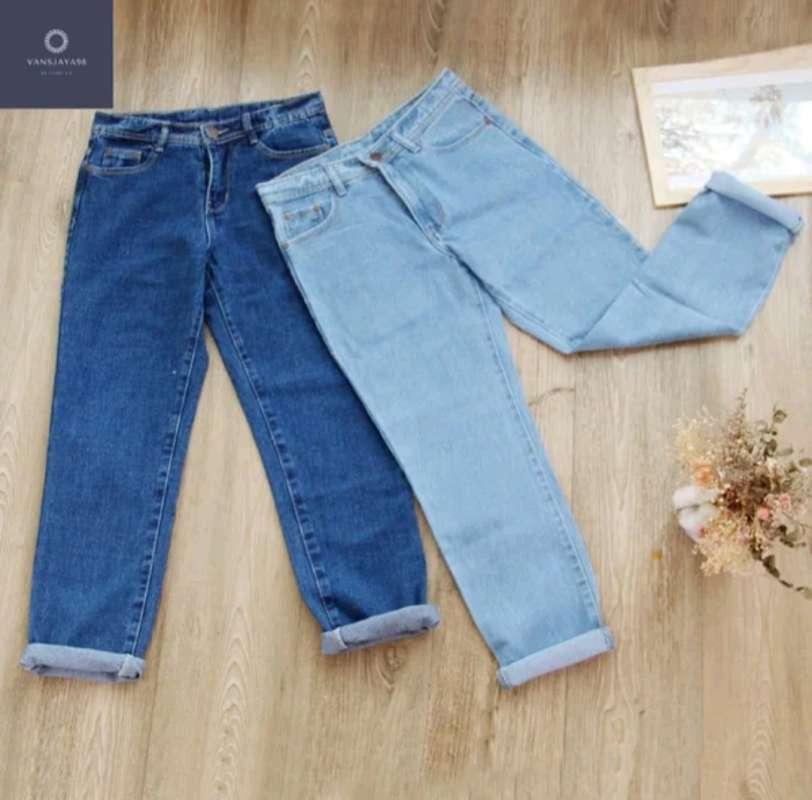 Celana jeans wanita boyfriend kekinian bf premium quality