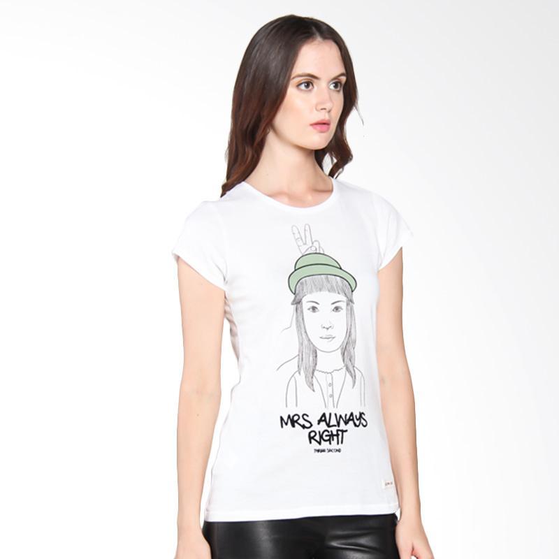 3 Second Ladies 102051722 Girls Casual Relaxed Tee Kaos Wanita - White