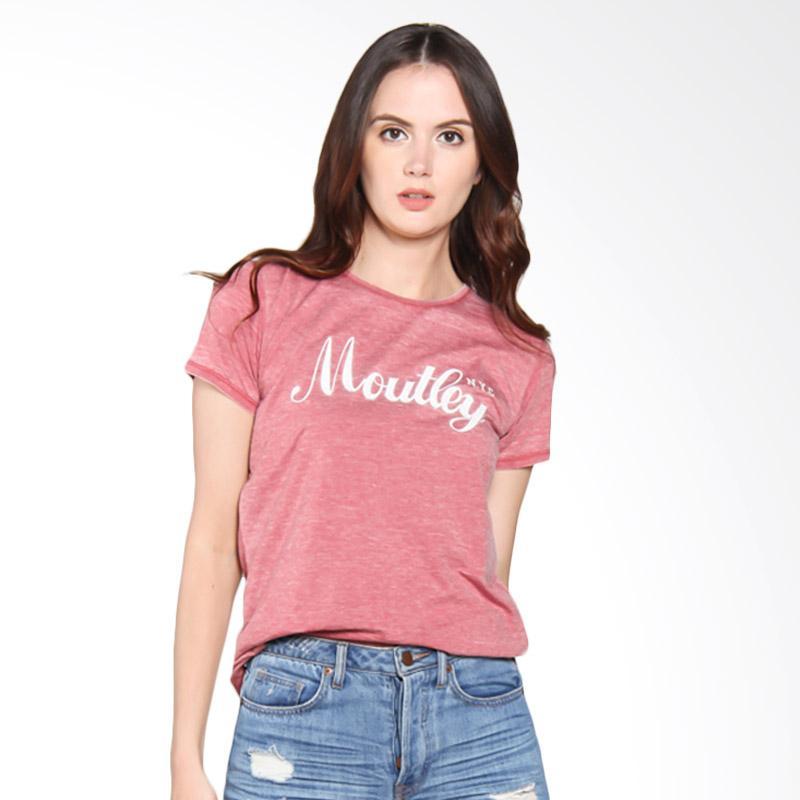 Moutley Ladies 355051722 Basic Street Tee Kaos Wanita - Red