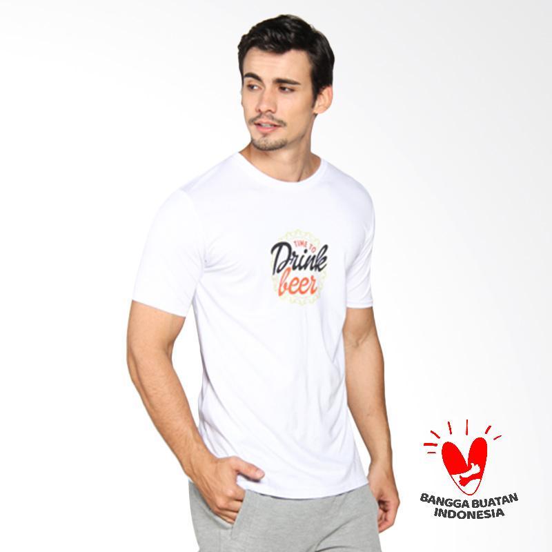 D&J Katun Top Kaos Pria - Putih 046