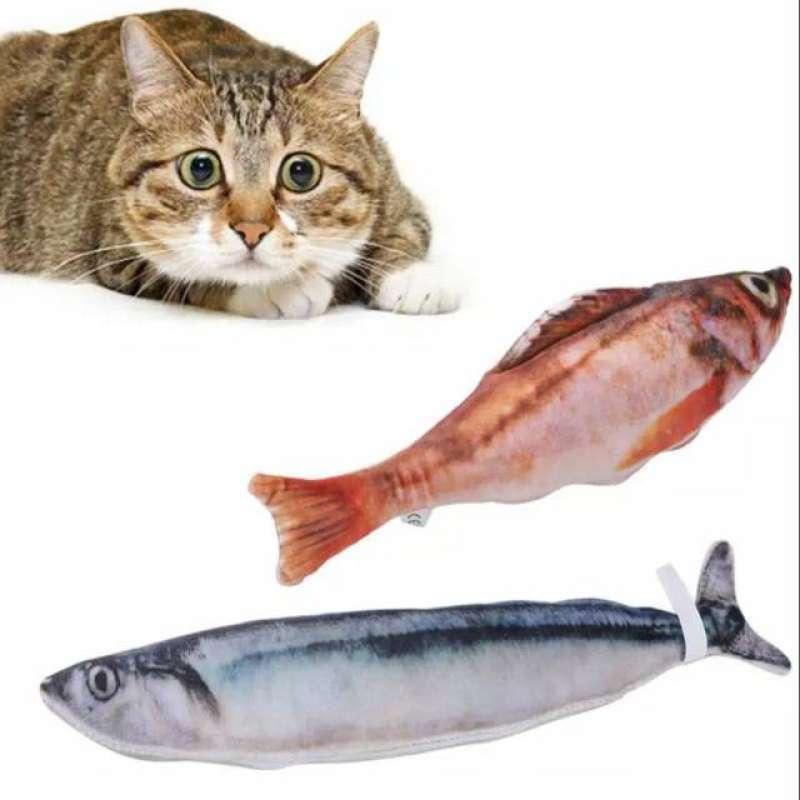 Catnip Ikan Catmint Fish Mainan Kucing Cat Toys Gigitan Kucing Ikan