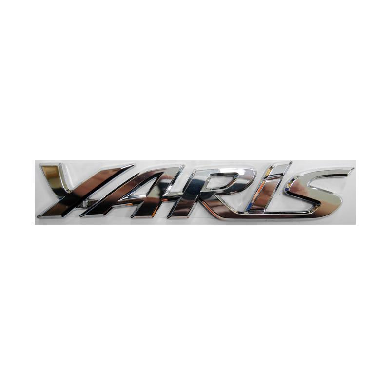 SIV EMB-118 Emblem Logo Tulisan Yaris Aksesories Bodi Mobil