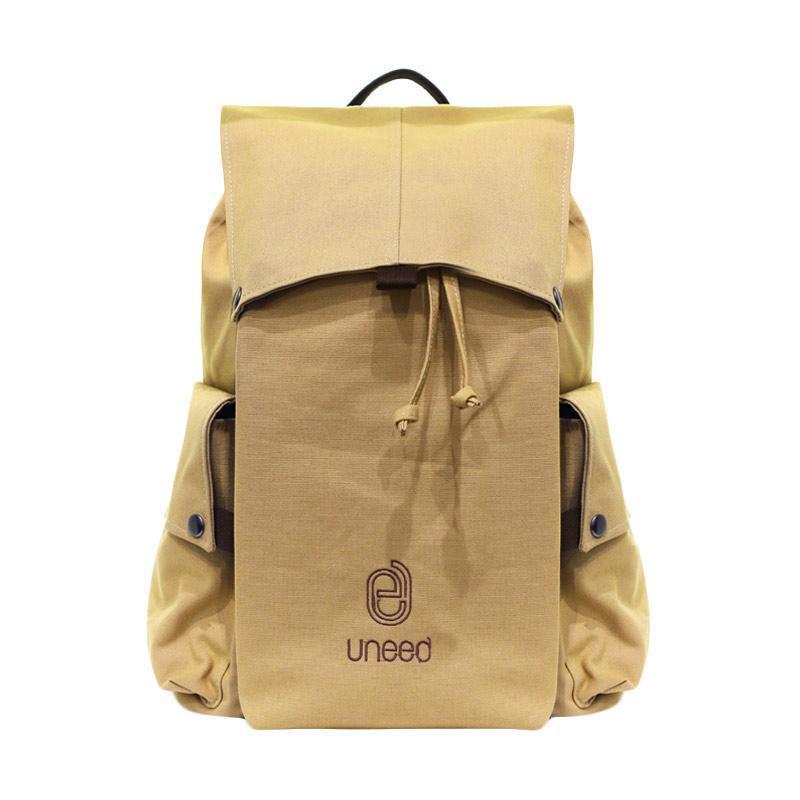 harga Uneed UB102 Kanevas Backpack Tas Laptop Pria - Khaki [14 Inch] Blibli.com