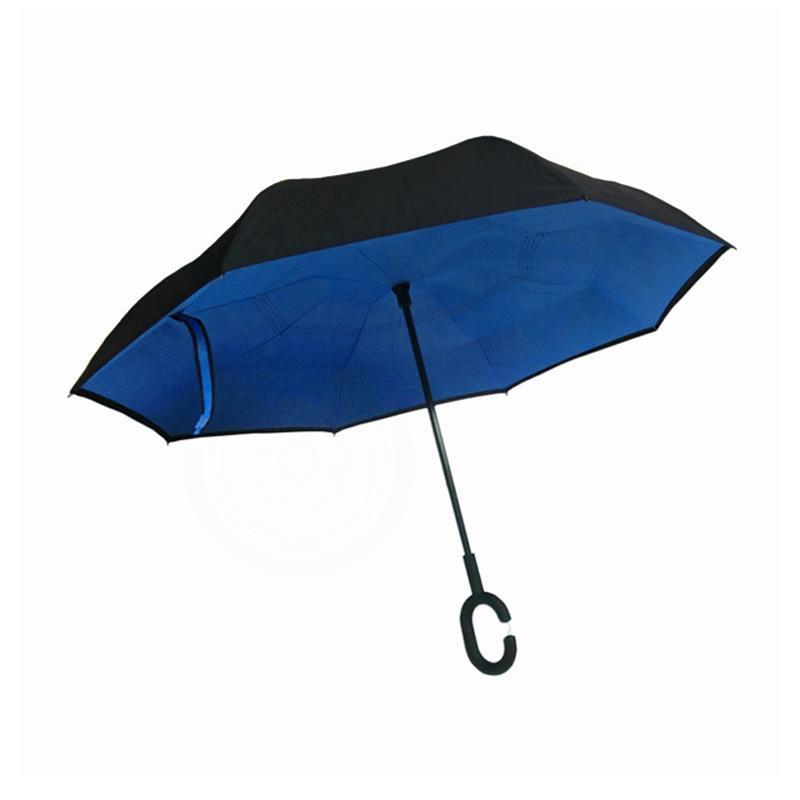 Solidex Shop Kazbrella Gagang C Grade A Payung Terbalik - Blue